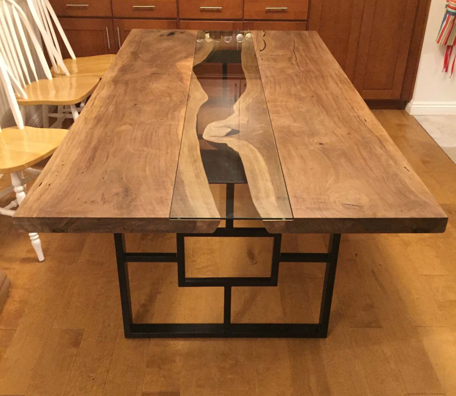 Walnut Live Edge Dining Table Top