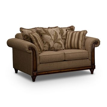 Palm Isle Upholstery Loveseat Value City Furniture 489 99