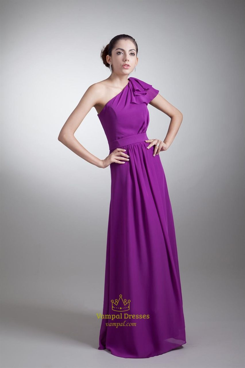 royal purpe long bridesmaid dress for teen | ... Dresses Purple One ...