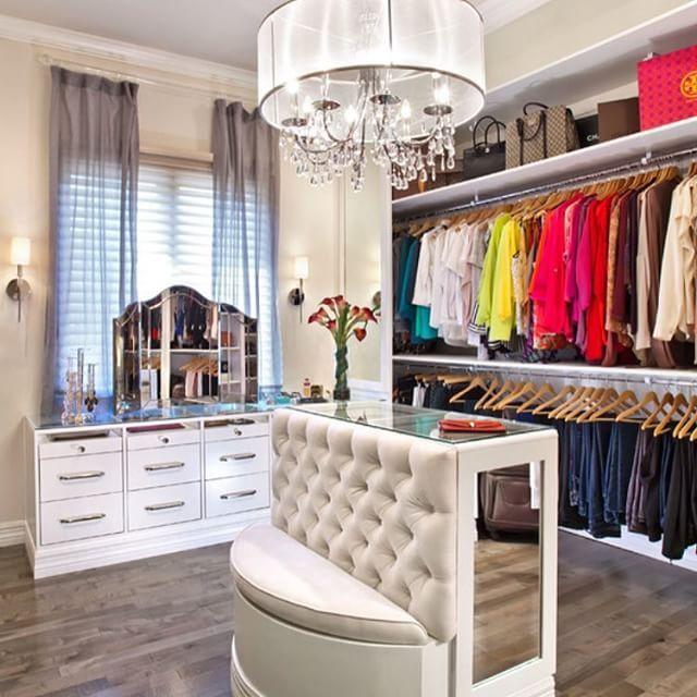 Convert Bedroom To Closet organization heaven. love the island. | home || closets