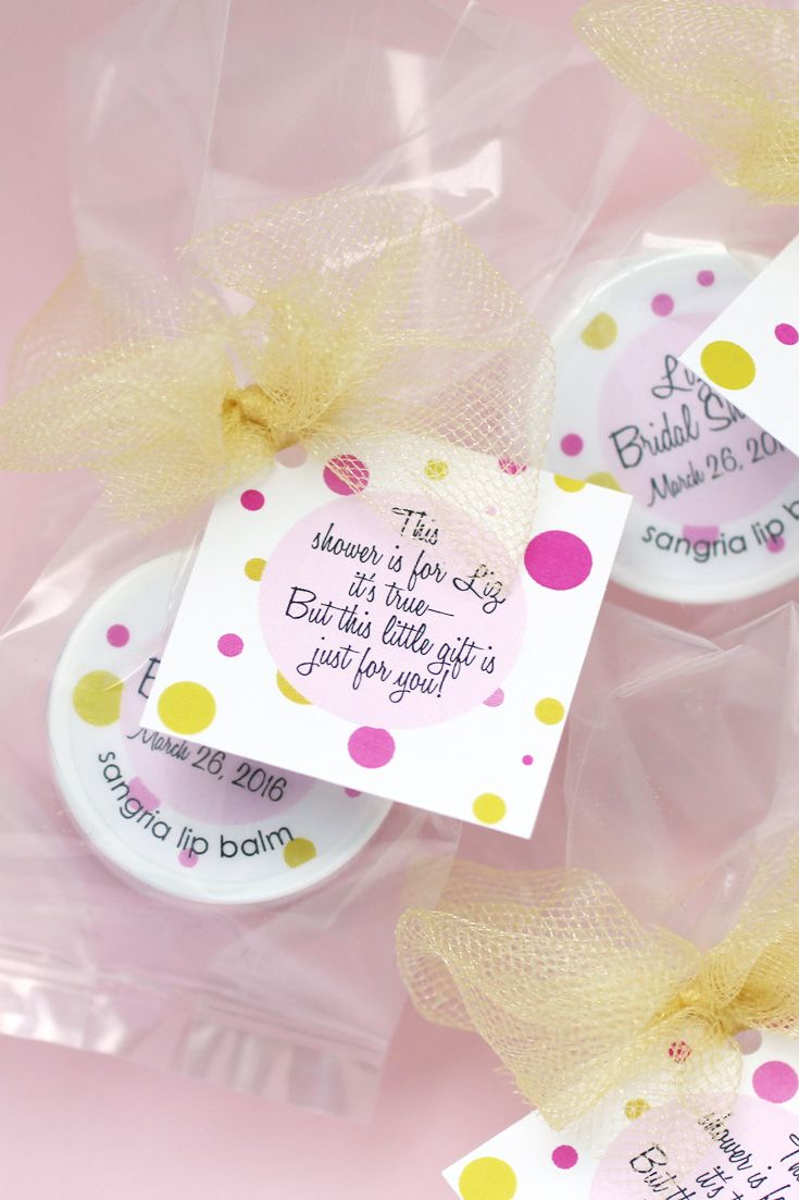 looking for little gifts for your guests these lip balm favors will help you kiss single life goodbye at your bridal shower click through to choose yours