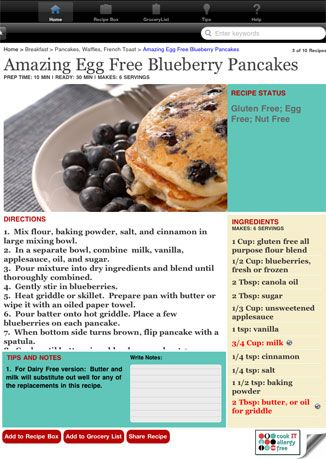 Cook it allergy free the app that customizes recipes to work with cook it allergy free the app that customizes recipes to work with your food allergies forumfinder Images