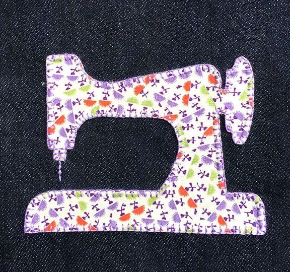 denim-applique-quilt-sewing-machine | for. me | Pinterest | Applique ...
