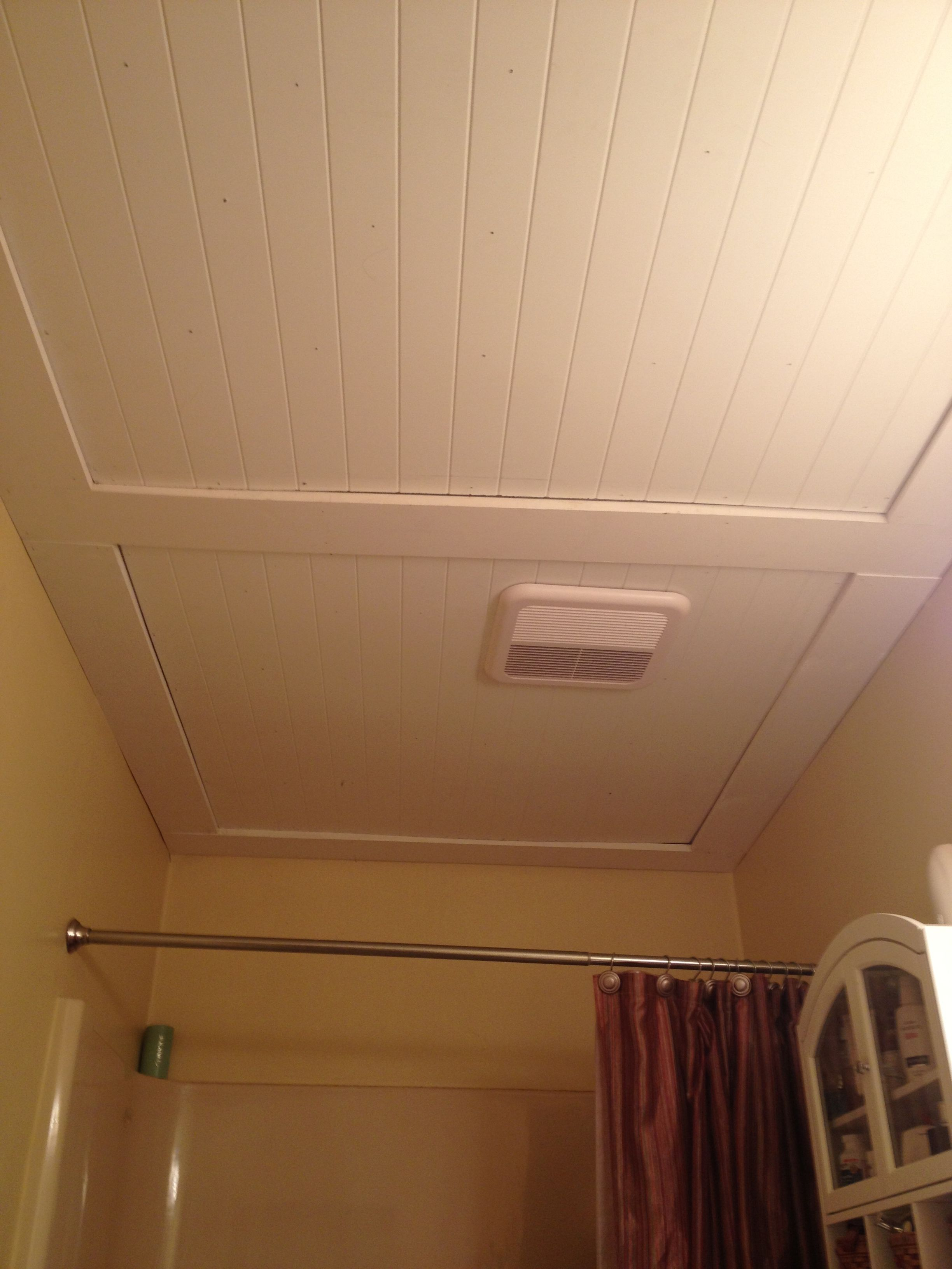 Our Beadboard Bathroom Ceiling