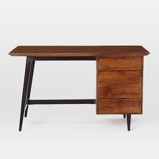 Lars Mid Century Desk From West Elm I D Get This Is I Were You