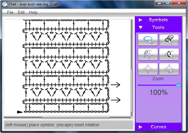 Pattern of writing application