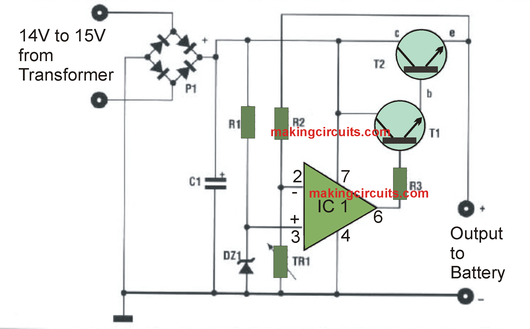 automatic 12v battery charger circuit batteries in 2019 battery circuit diagram of automatic battery charger automatic [ 2122 x 1319 Pixel ]