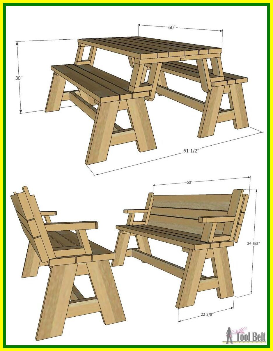 108 Reference Of Outdoor Bench Seating Dimensions In 2020 Diy Picnic Table Picnic Table Garden Bench Diy