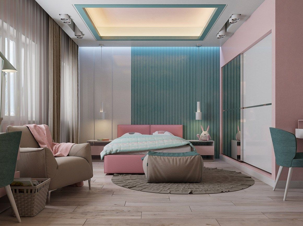 30 Lovely Pink Bedrooms Design Ideas (2020)   Pink ...