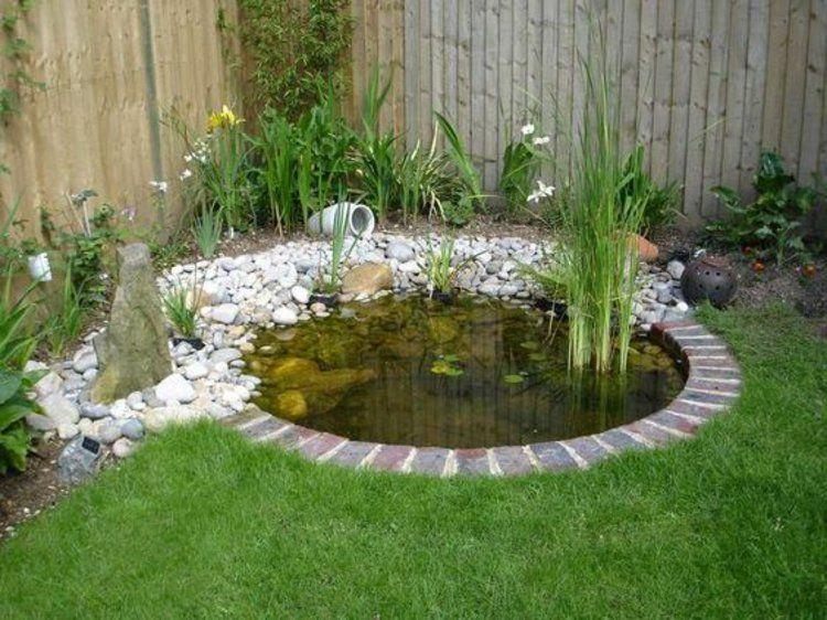 Gartenecke mit Teich gestalten Gartengestaltung mit Steinen - teich wasserfall modern selber bauen