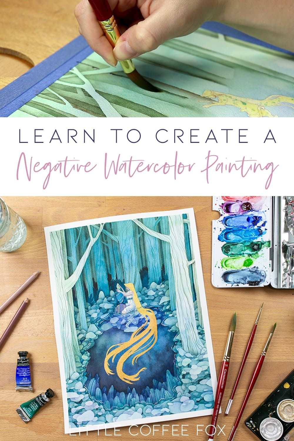 Watercolor Negative Painting Tutorial Add Amazing Depth To Your
