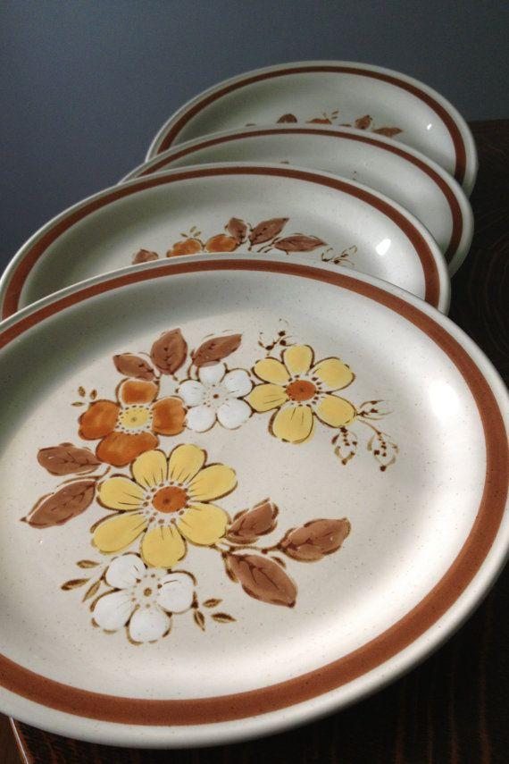 Autumn Collection WildWood stoneware dinner plates set of Japan & Autumn Collection WildWood stoneware dinner plates set of 5 Japan ...