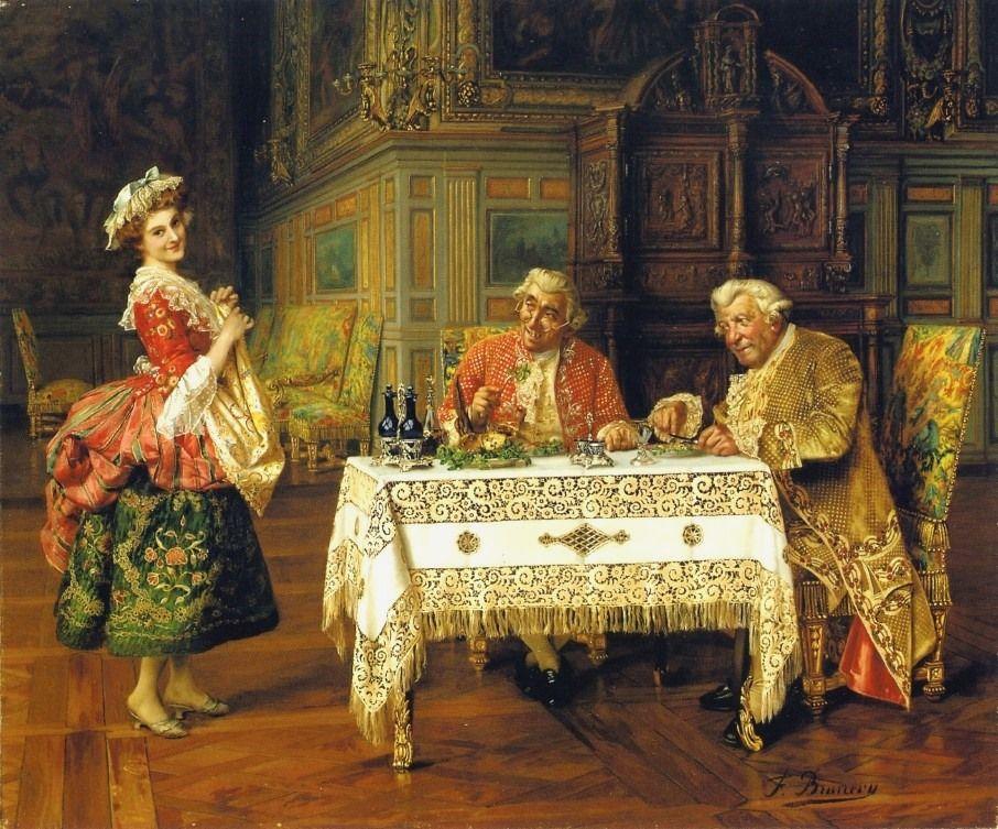 """""""The New Servant"""" → François Brunnery - 1849/1926 - Pintor Italiano."""