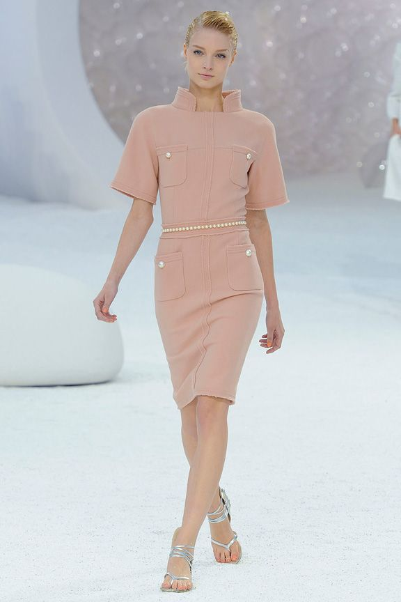 Pale Pink Dress With Pearl Belt This Is Stunning