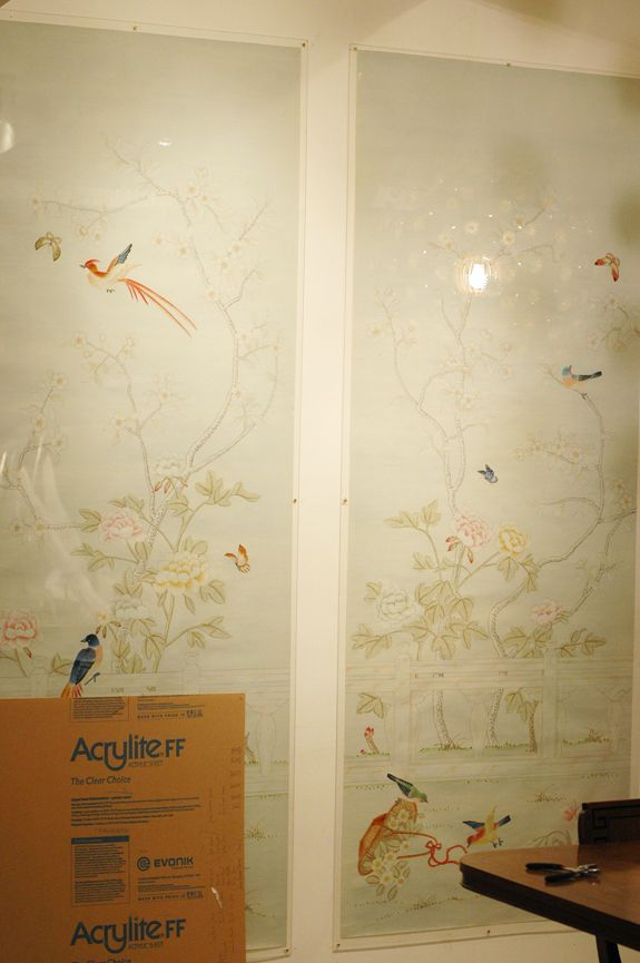 wallpaper in acrylic frames ... perfect wall art/decor for rental ... maybe our CH rental?