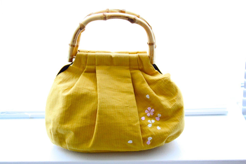 Asian styled bamboo handled purses handbags-4586