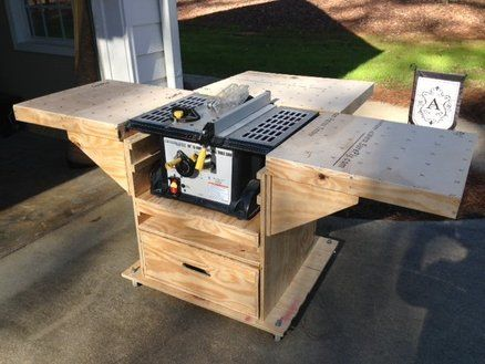 Quick Convert Tablesaw Router Miter Saw Caddy Workshop