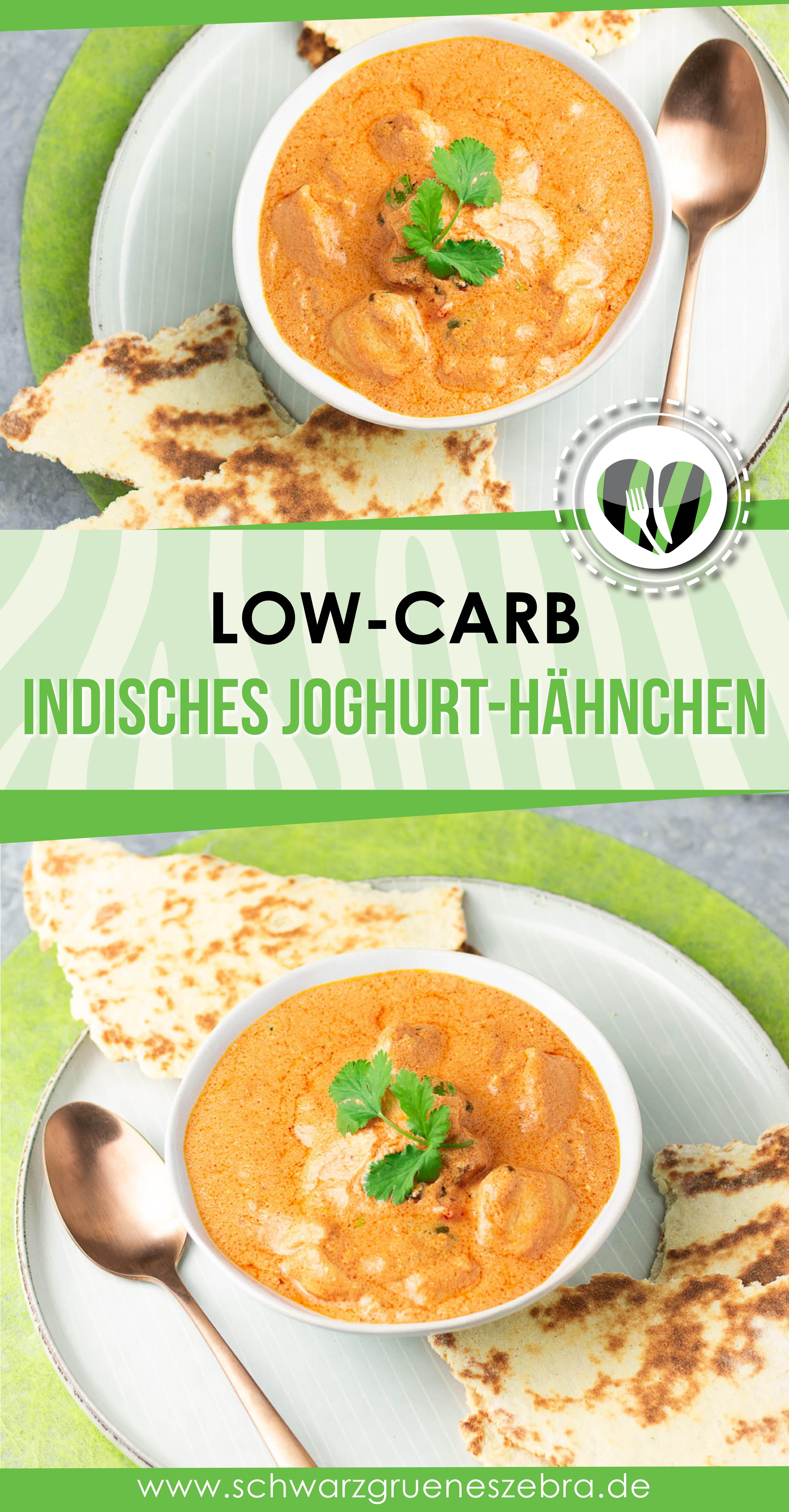 Indisches Joghurt-Hähnchen mit LC Naanbrot - LCHF - KETO
