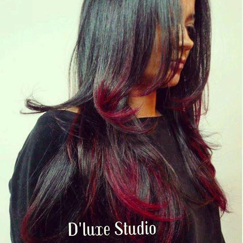 ombre,hair,vermelho,morenas