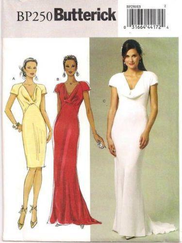 BUTTERICK BP250 Pippa Royal Wedding Bridesmaid Dress Sewing Pattern ...