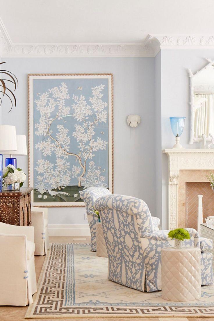 light blue living room inspiration  Déco salon, Déco maison