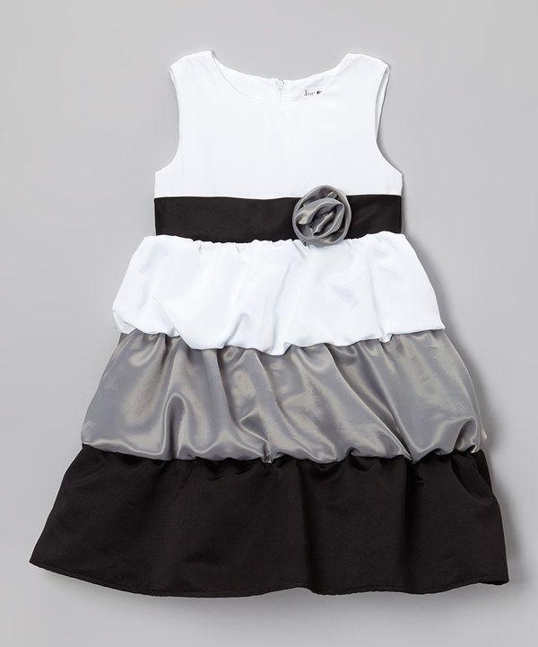 8ffbc34c1f60cb Take a look at this Joe-Ella White   Black Satin Cassandra Dress - Infant