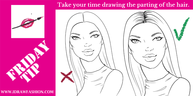 Drawing the hair is often times not an easy task for young artists a very important part of a good hair drawing is the parting that should be drawn with