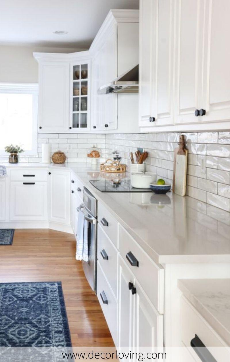 13 Amazing White Kitchen Cabinets With Quartz For Kitchen Design Ideas In 2020 White Kitchen Makeover Budget Friendly Kitchen Renovation New Kitchen Cabinets