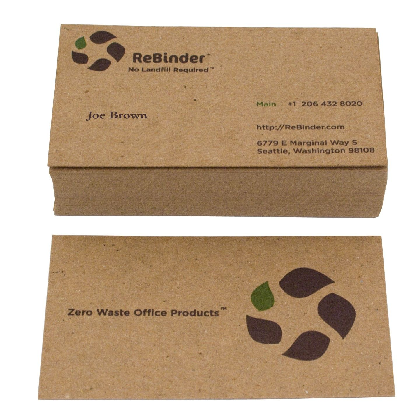 250 Recycled Business Cards 13 pt card stock, 250 @ $60 | Promo ...