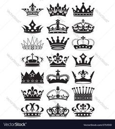 12 white crown tattoo