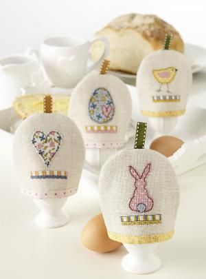 Free Easter egg cosy chart from Cross Stitch Collection #embroidery