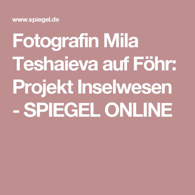 Fotografin Mila Teshaieva auf Föhr: Projekt Inselwesen - SPIEGEL ONLINE