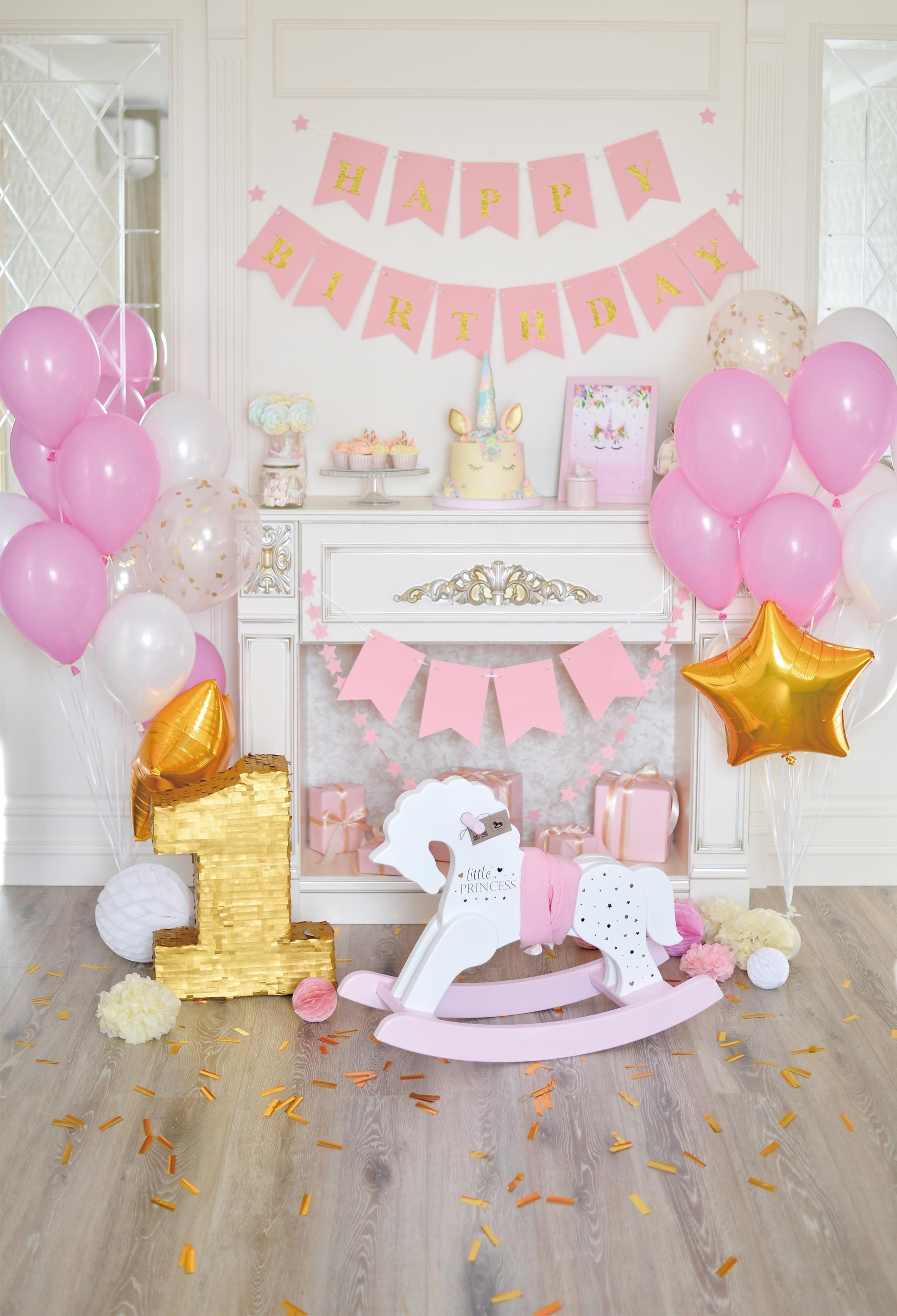 Princess Photography Backdrop Girls Birthday Party Prop Background Decoration
