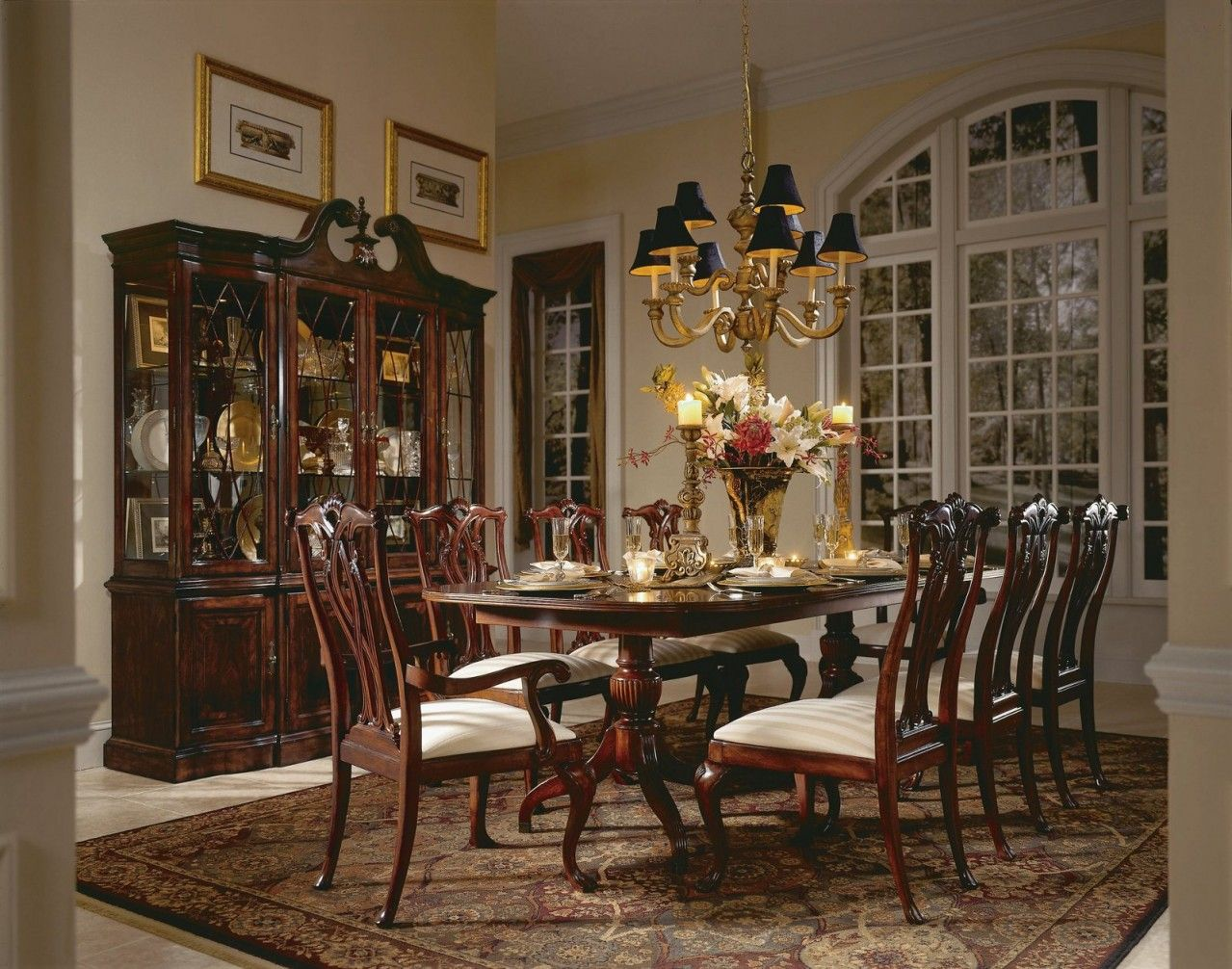 American Drew Cherry Grove 7 Pc Double Pedestal Dining Set In Classic  Antique By Dining Rooms Outlet