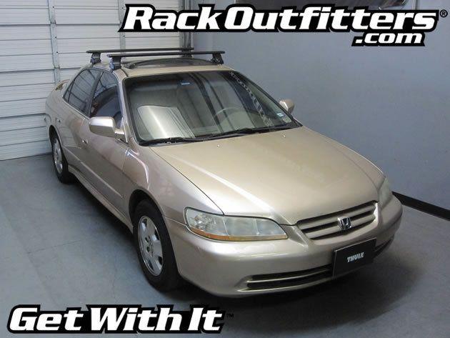 Honda Accord 4 Door Thule Rapid Traverse Black Aeroblade Roof Rack 98 02 Roof Rack Subaru Outback Thule