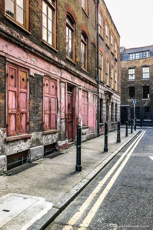 Princelet Street in Spitalfields, London. Click through for more pictures on the A Lady in London blog.   #london #spitalfields