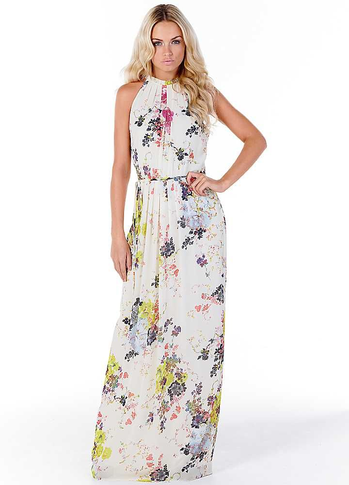 Ted Baker Cream Floral Print Maxi Dress  My Style  Pinterest ...