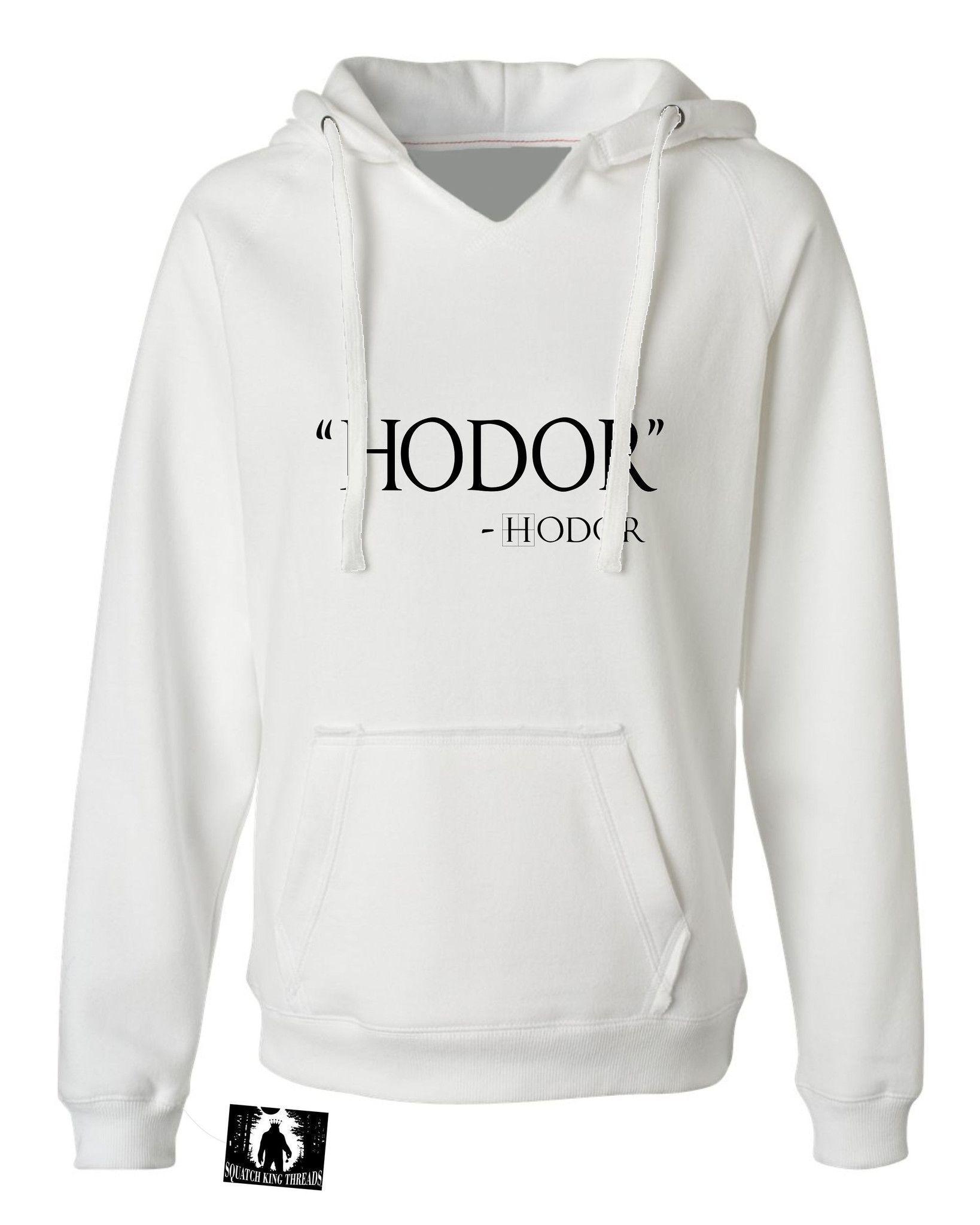 Womens Hodor Hodor Quote Deluxe Soft Hoodie