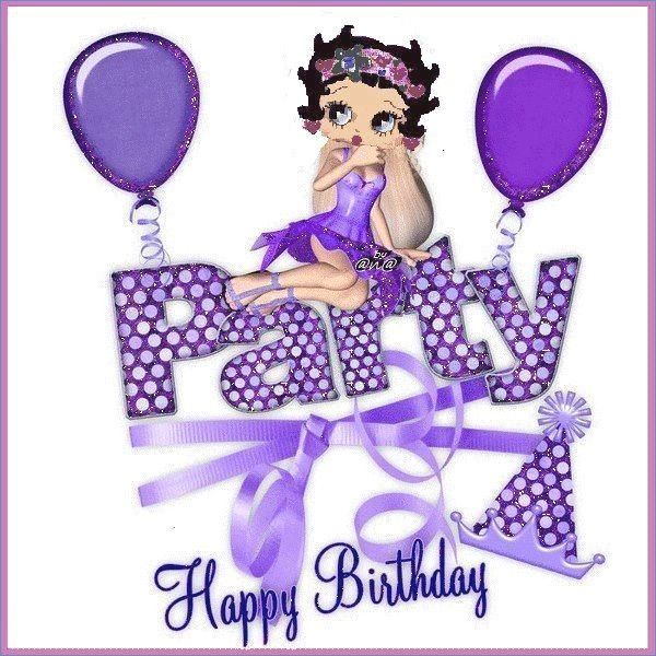 Betty Boop Birthday Cards Free 10betty And Boop Blanco