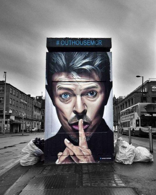David Bowie – Street Art Tribute – Street art and graffiti magazine