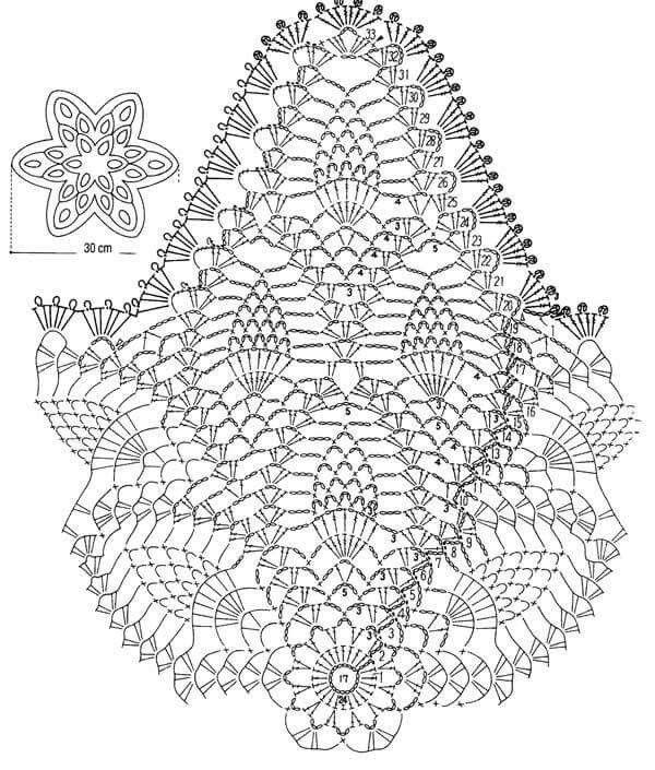 Estrella de piñas | individuales | Pinterest | Crochet, Crochet ...