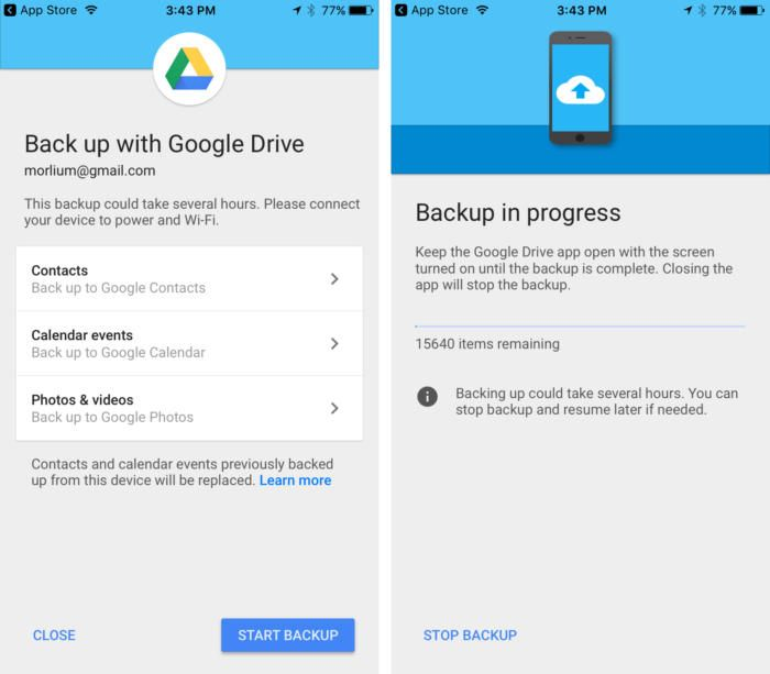 Apple Store Resume Google Drive Update Makes It A Little Easier To Switch From Iphone .