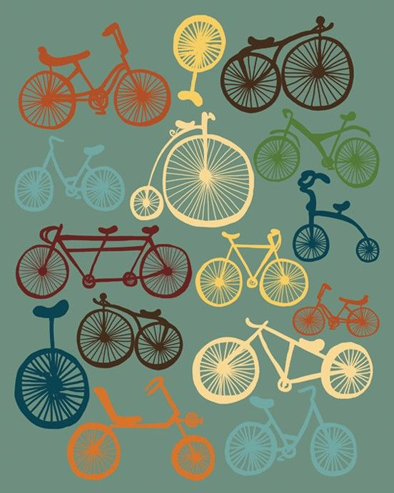 Bikes poster bike giclee print wall decor i love bikes - How much do interior designers get paid ...