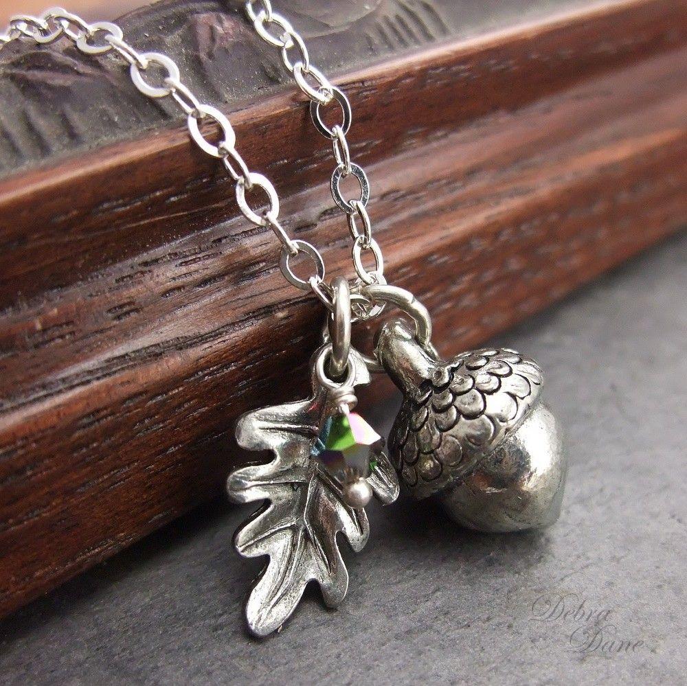 1d9123b970 Silver Acorn Necklace, Acorn Pendant, Silver Oak Leaf Necklace, Fall Fashion.  $34.00, via Etsy.