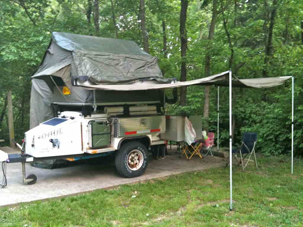 Foxwing Awning And Full Enclosure On M416