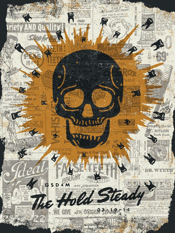 The Hold Steady Collage Music Poster