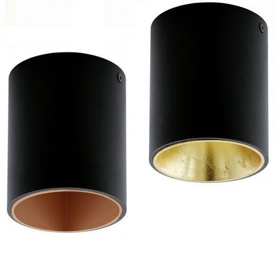 LED-Deckenleuchte Polasso in Schwarz küche Pinterest