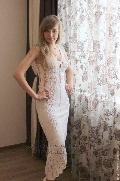 9f6337175b1 Платья ручной работы. Ярмарка Мастеров - ручная работа. Купить Вязаное  платье