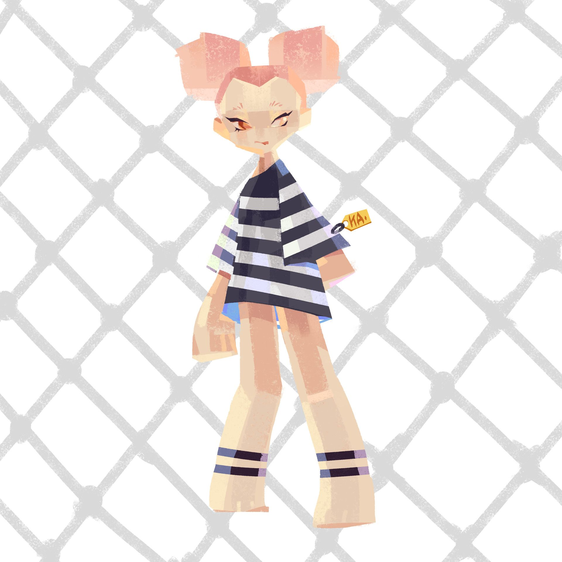 Pinky@BLOODY STREET by kakar cheung on ArtStation.