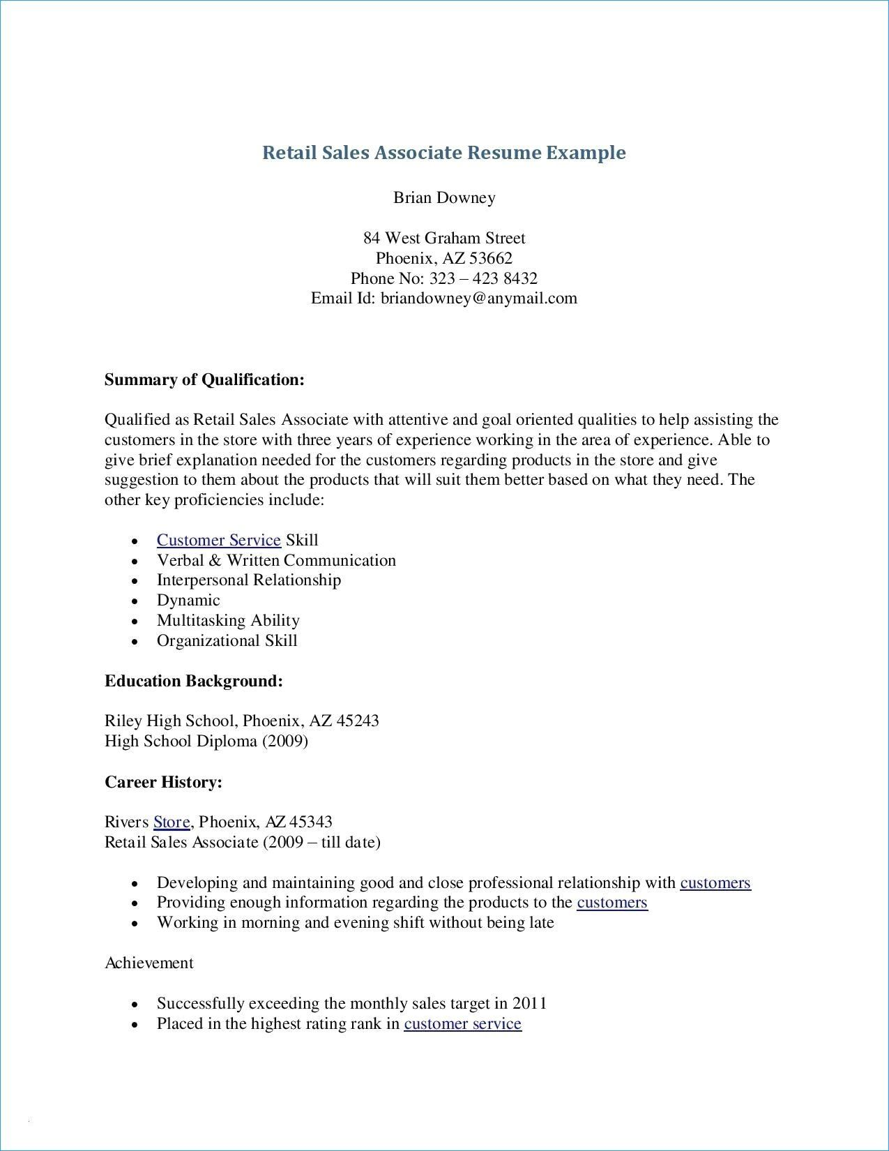 Acting Resume No Experience Best Of New Best Retail Resume